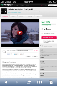 My Indiegogo Campaign