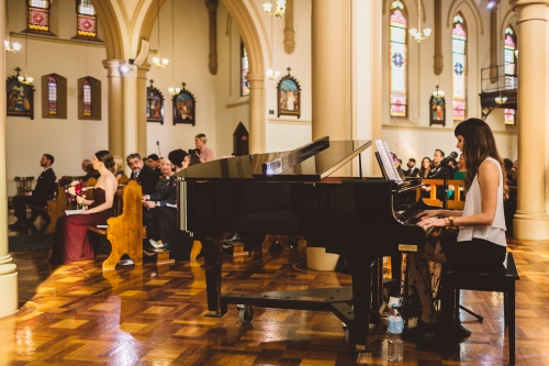Larissa McKay for a wedding ceremony at St. Vincent's Church, Potts Point NSW
